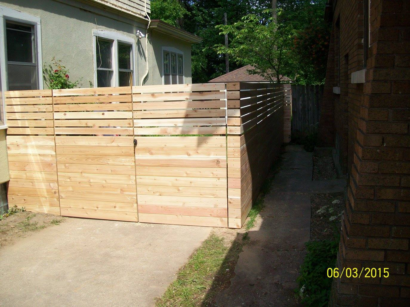 custom designed Fence by Alto Fencing Services
